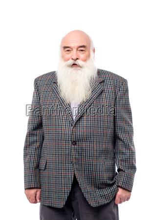 handsome senior in suit