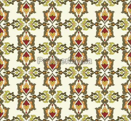 antique ottoman turkish pattern vector design