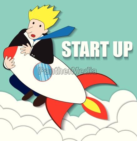 startup business flat design illustration
