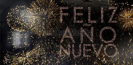 composite image of glittering feliz ano