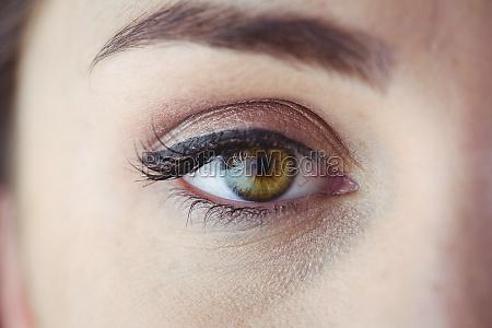 eye with eyeliner and eyeshadow