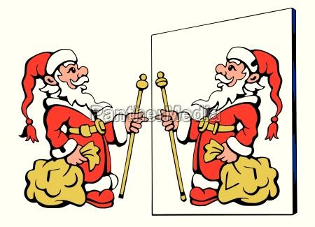 santa claus looking at the wrong