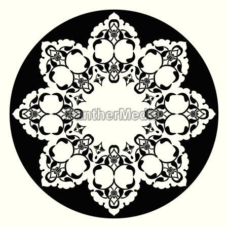 antique ottoman turkish vector design eight