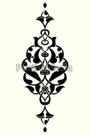 antique ottoman turkish vector design seven