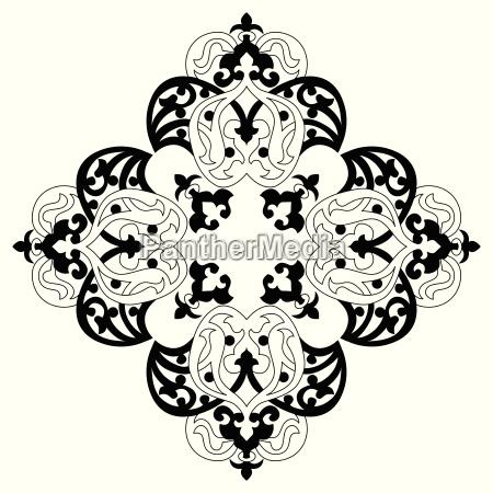 antique ottoman turkish vector design two