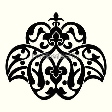 antique ottoman turkish vector design