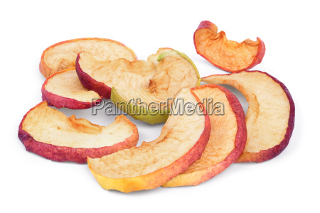 a few slices of dried apples