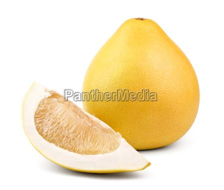 ripe pear shaped fruit pomelo and
