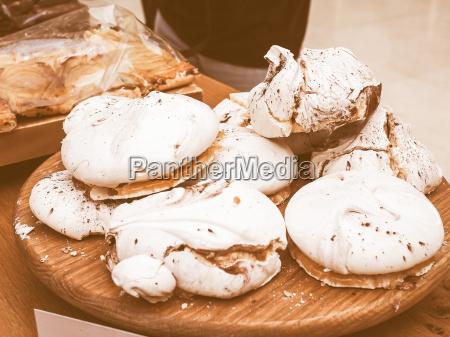 retro looking meringue dessert