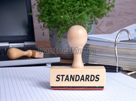 standards rubber stamp in the office