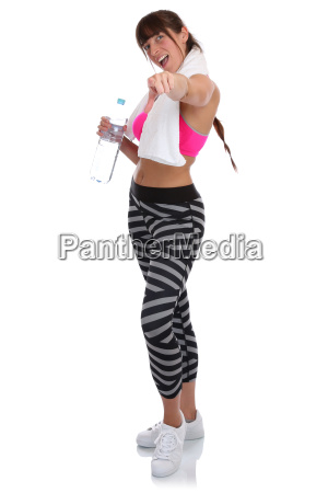 fitness woman in sports workouts join
