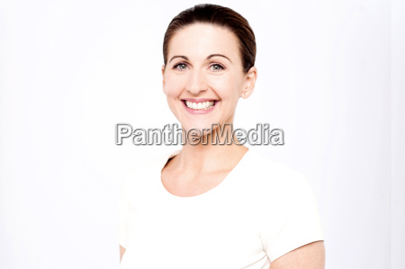 middle aged woman posing casually