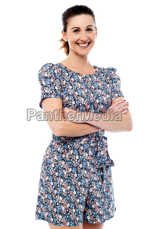 smiling woman in casuals