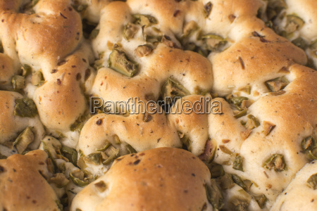 focaccia with olives loaf