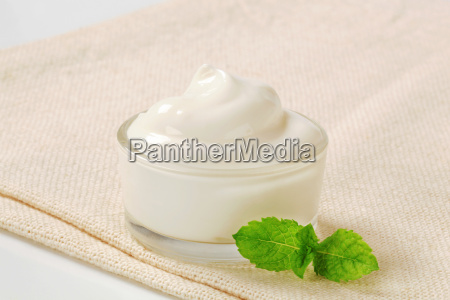 white cream in a bowl
