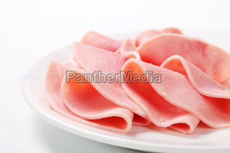 thin slices of ham