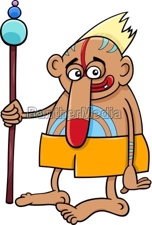 tribal shaman fantasy character