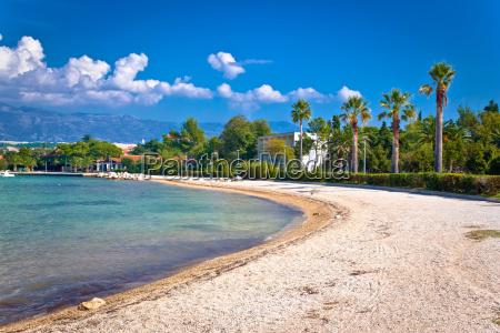 palm beach in novalja on pag