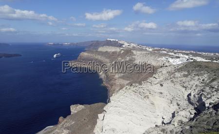 view of volcan caldera in athinios