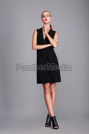 fashion model in dress