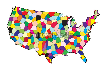 usa flag map patchwork