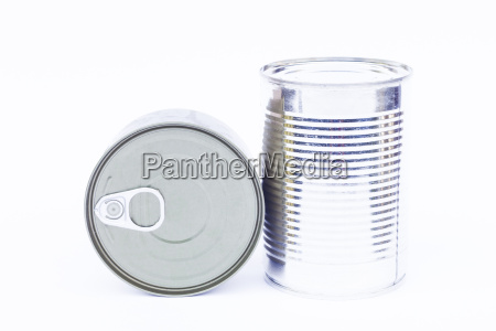 close up tin can isolated on
