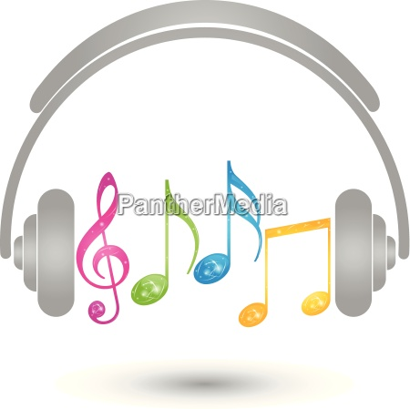 headphones music logo sound notes