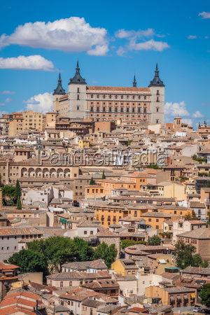 toledo spain cityscape old town at