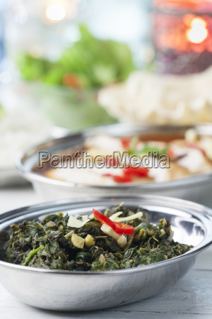 indian spinach curry