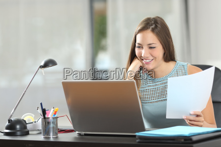 student studying or entrepreneur working at