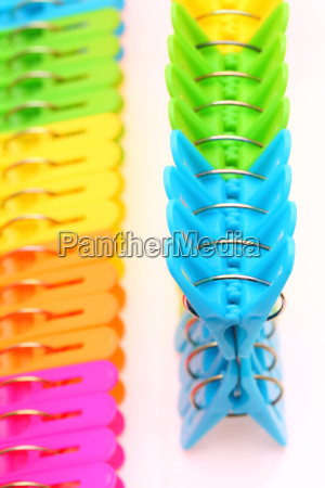 colorful plastic clothespins