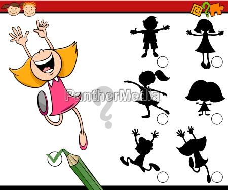 shadows task for children