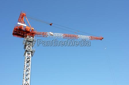 crane boom against a clear blue