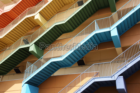 abstract fire escape stairs background