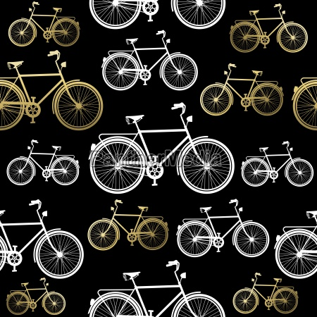 bike seamless pattern bicycle gold concept