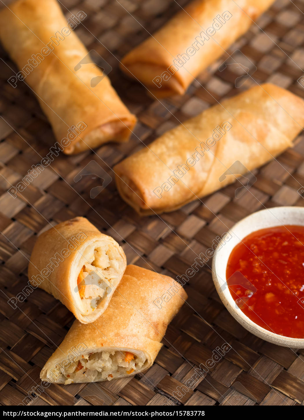 rustic, golden, chinese, spring, rolls - 15783778
