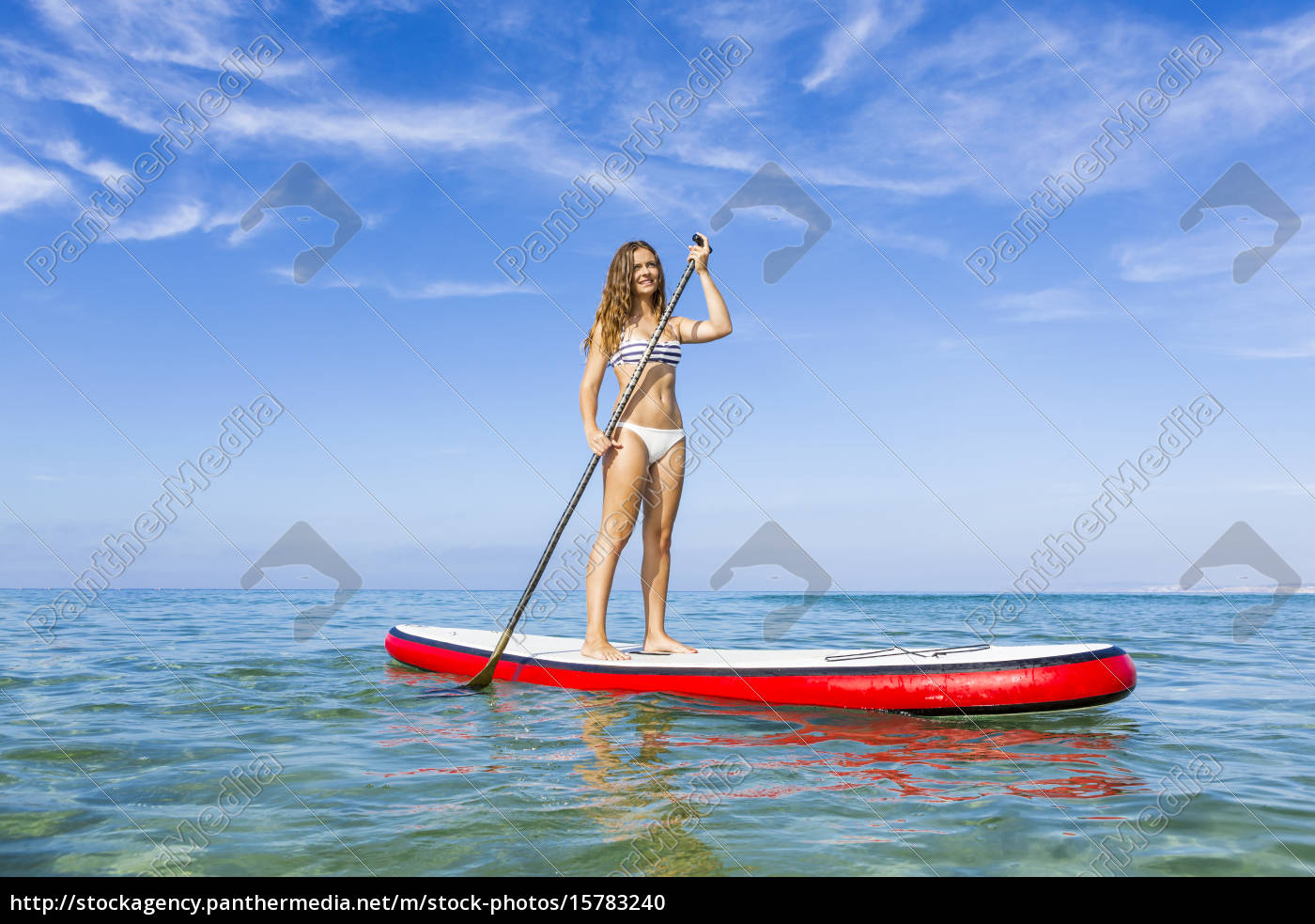 woman, practicing, paddle - 15783240