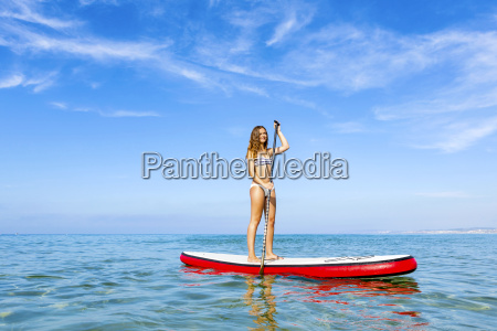 woman, practicing, paddle - 15783242