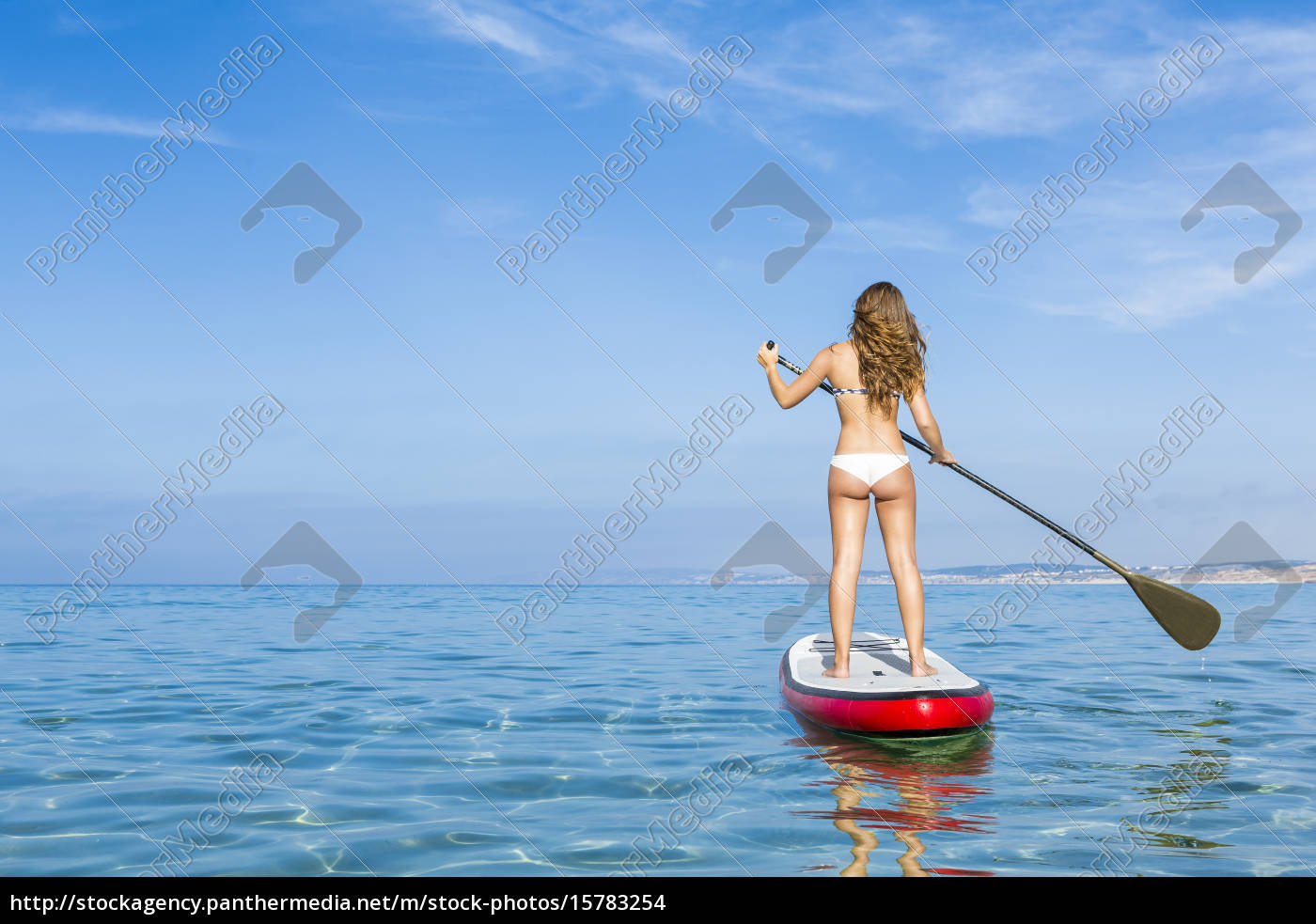 woman, practicing, paddle - 15783254