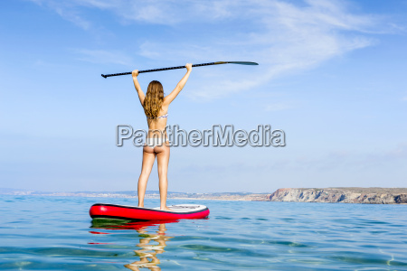 woman, practicing, paddle - 15783256