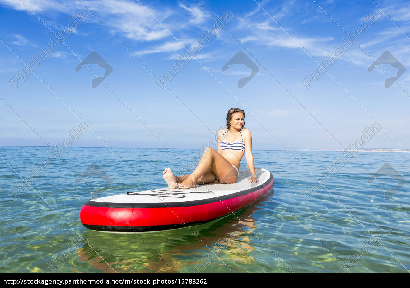 woman, practicing, paddle - 15783262