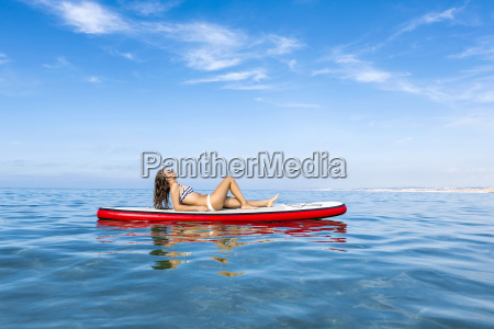woman, practicing, paddle - 15783280