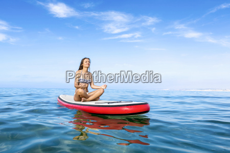 woman, practicing, paddle - 15783282