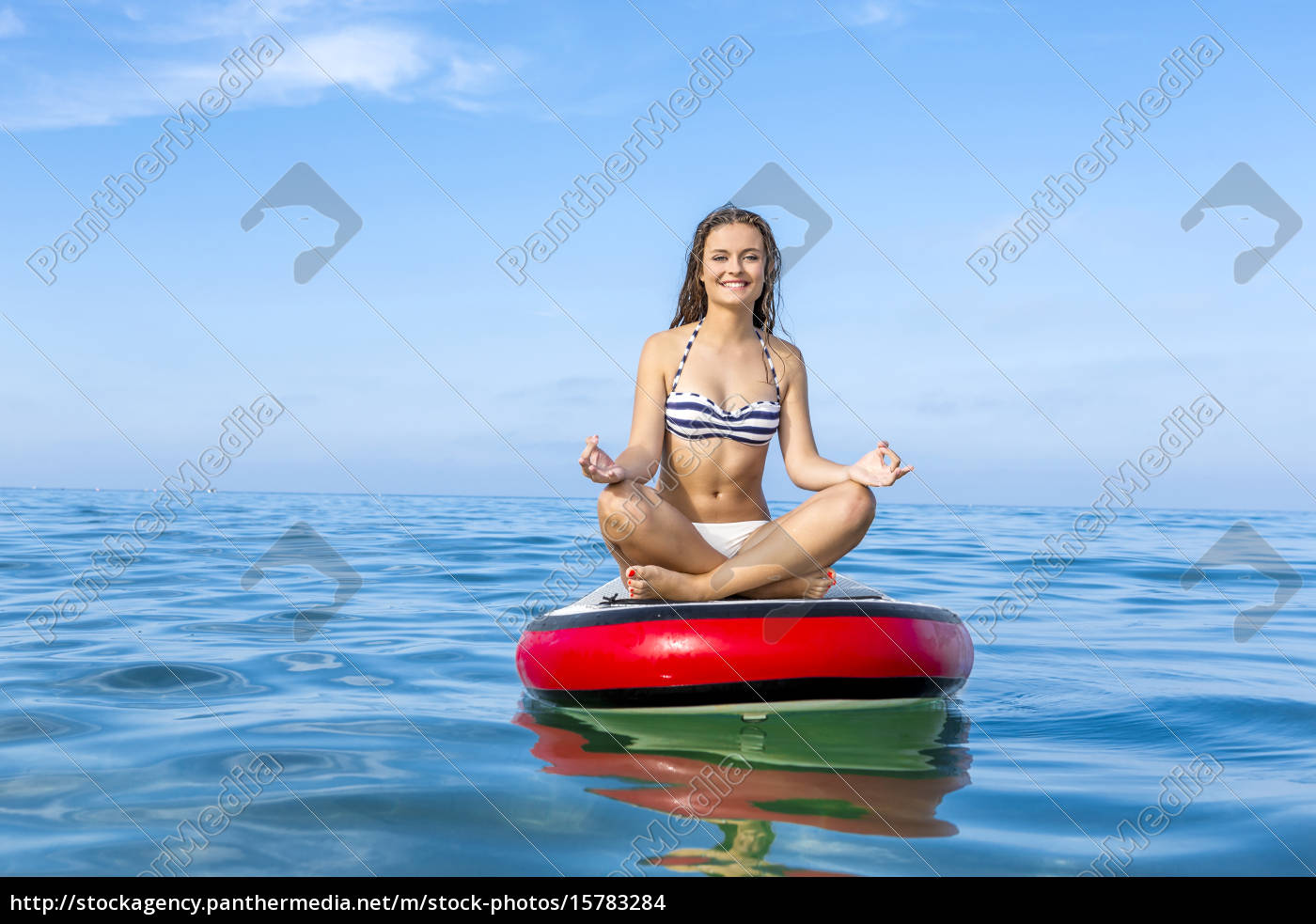 woman, practicing, paddle - 15783284