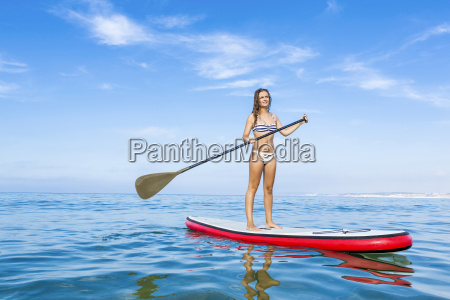 woman, practicing, paddle - 15783288