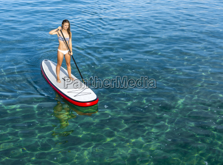 woman, practicing, paddle - 15783304