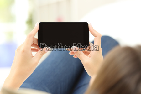 woman, watching, media, in, a, smart - 15784920