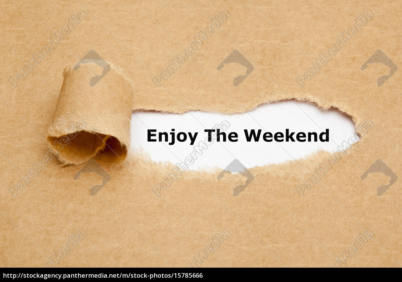 enjoy, the, weekend, torn, paper - 15785666