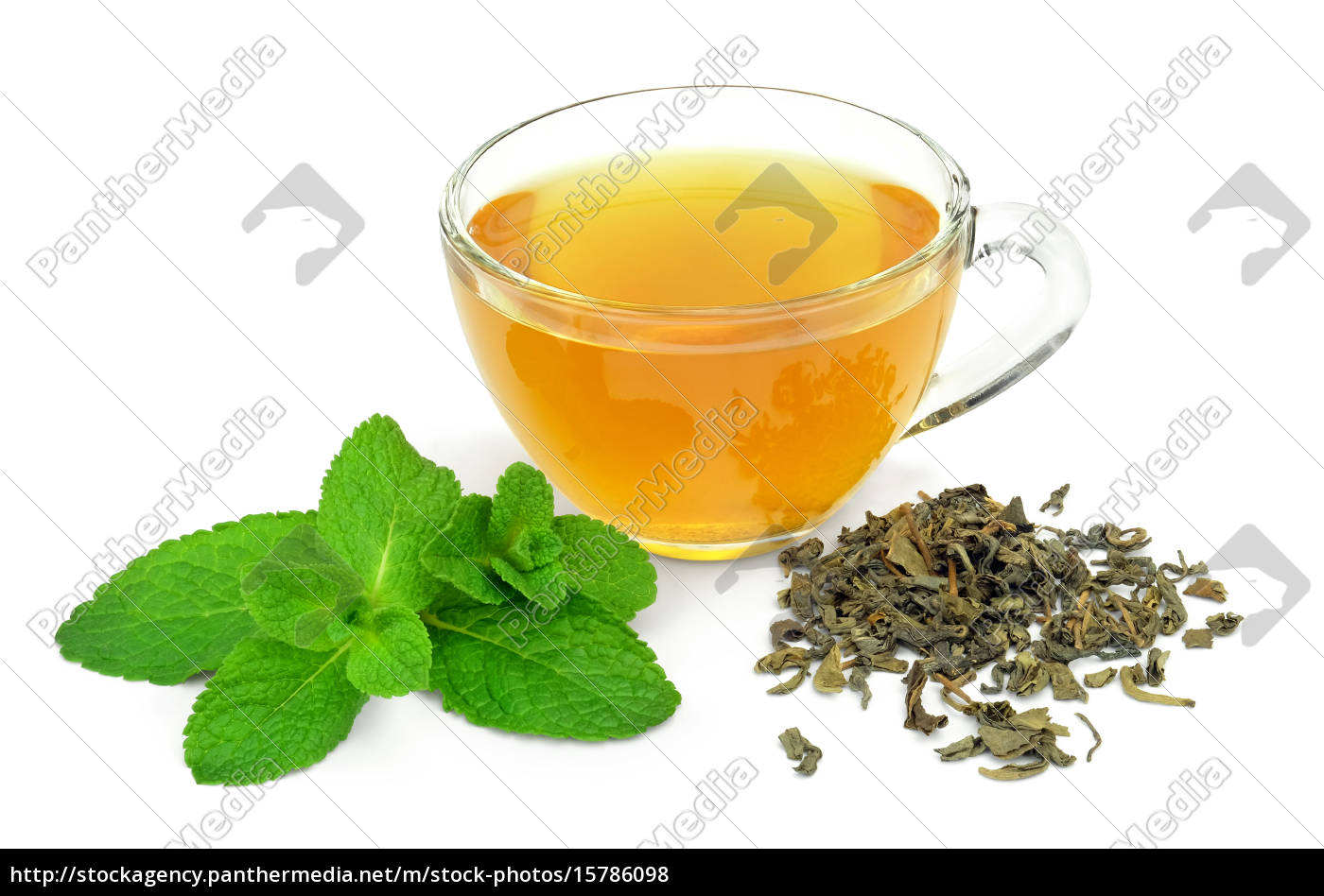 a, cup, of, green, tea, and - 15786098