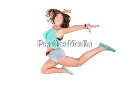 jumping, girl - 15786250